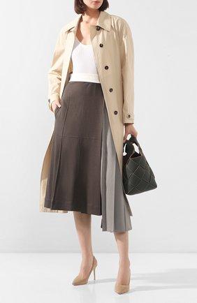 Женская замшевые туфли romy 85 JIMMY CHOO бежевого цвета, арт. R0MY 85/SUE | Фото 2