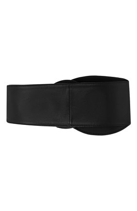 Женский кожаный ремень GIORGIO ARMANI черного цвета, арт. Y1I218/YTG3M | Фото 2