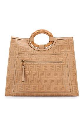 Женская сумка-тоут FENDI бежевого цвета, арт. 8BH351 AAIJ | Фото 1