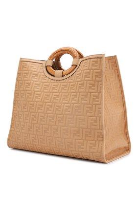 Женская сумка-тоут FENDI бежевого цвета, арт. 8BH351 AAIJ   Фото 3
