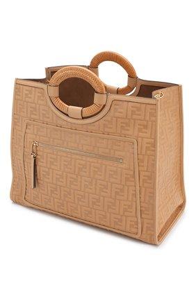 Женская сумка-тоут FENDI бежевого цвета, арт. 8BH351 AAIJ   Фото 4