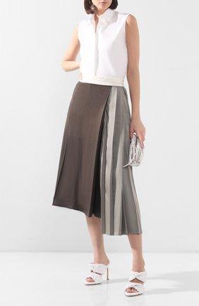 Женские кожаные мюли bv curve BOTTEGA VENETA белого цвета, арт. 618757/VBTG0 | Фото 2