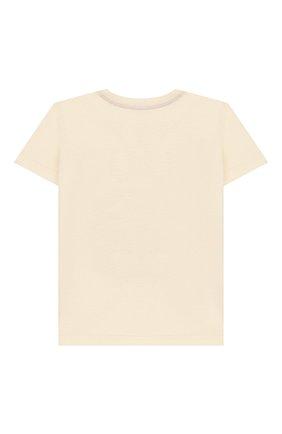 Детский хлопковая футболка GUCCI белого цвета, арт. 548034/XJBCG | Фото 2