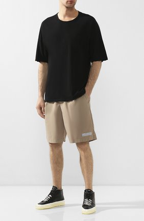 Мужские кожаные кеды RBRSL черного цвета, арт. 7X2131U.U50CWJB002   Фото 2