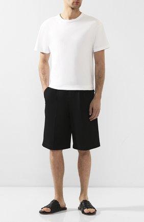 Мужские кожаные шлепанцы BOTTEGA VENETA черного цвета, арт. 620298/VBTR0 | Фото 2