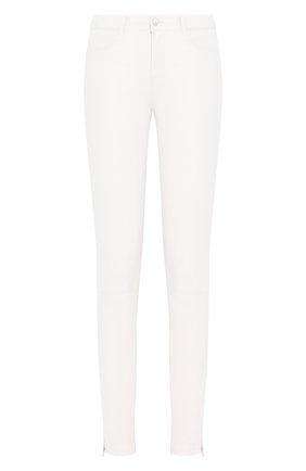 Женские кожаные брюки J BRAND белого цвета, арт. JB002811 | Фото 1