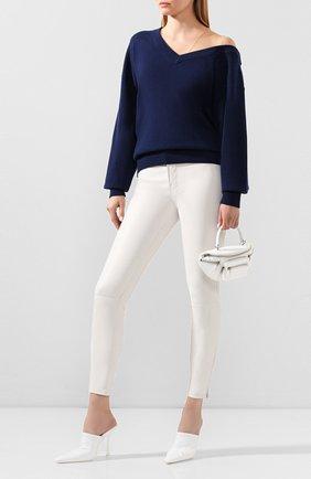 Женские кожаные брюки J BRAND белого цвета, арт. JB002811 | Фото 2