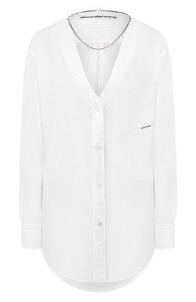 Женская рубашка ALEXANDER WANG белого цвета, арт. 1WC1201300 | Фото 1