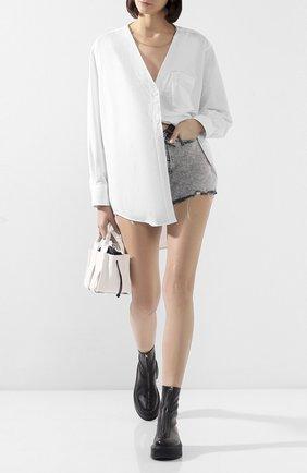Женская рубашка ALEXANDER WANG белого цвета, арт. 1WC1201300 | Фото 2