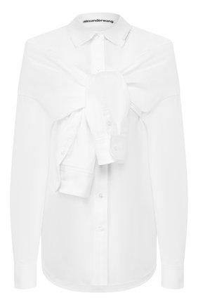 Женская хлопковая рубашка ALEXANDER WANG белого цвета, арт. 1WC1201317 | Фото 1