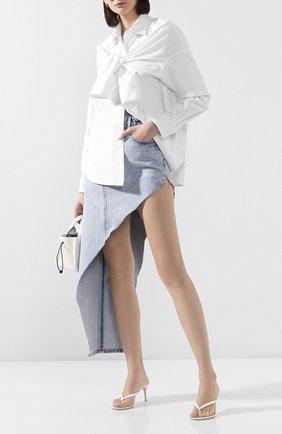 Женская хлопковая рубашка ALEXANDER WANG белого цвета, арт. 1WC1201317 | Фото 2