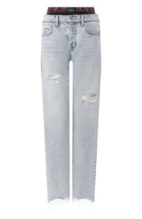 Женские джинсы ALEXANDERWANG.T синего цвета, арт. 4DC1204572 | Фото 1