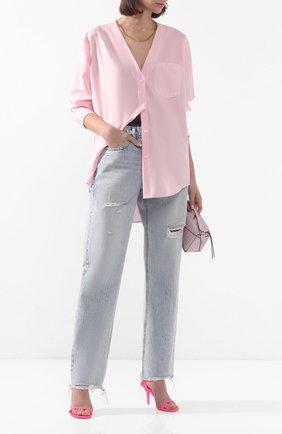 Женские джинсы ALEXANDERWANG.T синего цвета, арт. 4DC1204572 | Фото 2