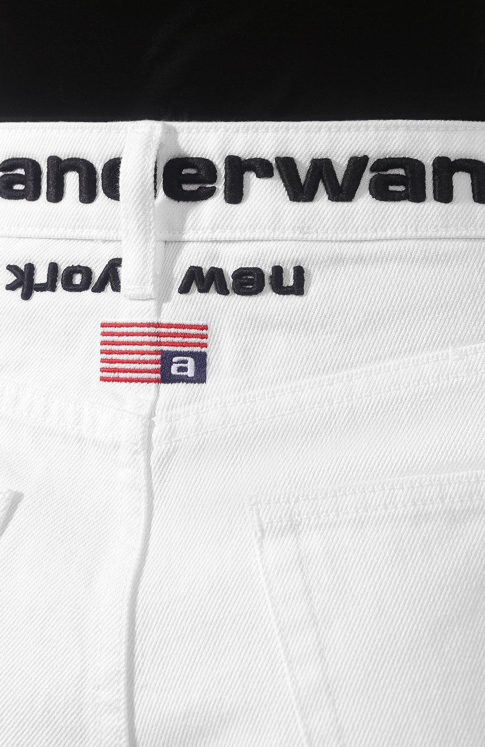 Женские джинсовые шорты ALEXANDERWANG.T белого цвета, арт. 4DC1204685 | Фото 5 (Женское Кросс-КТ: Шорты-одежда; Кросс-КТ: Деним; Длина Ж (юбки, платья, шорты): Мини; Материал внешний: Хлопок; Стили: Кэжуэл)