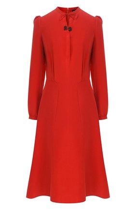 Женское шелковое платье GIORGIO ARMANI красного цвета, арт. 0SHVA04Z/T01HI | Фото 1