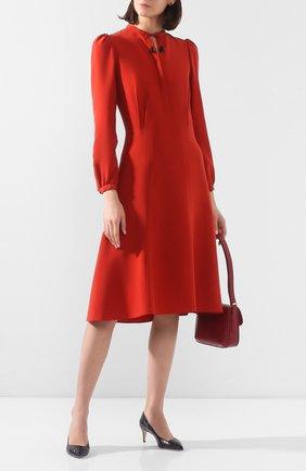 Женское шелковое платье GIORGIO ARMANI красного цвета, арт. 0SHVA04Z/T01HI | Фото 2