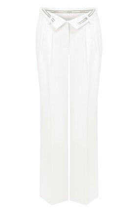 Женские брюки из смеси вискозы и шерсти ALEXANDER WANG белого цвета, арт. 1WC1204254 | Фото 1
