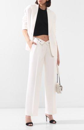 Женские брюки из смеси вискозы и шерсти ALEXANDER WANG белого цвета, арт. 1WC1204254 | Фото 2