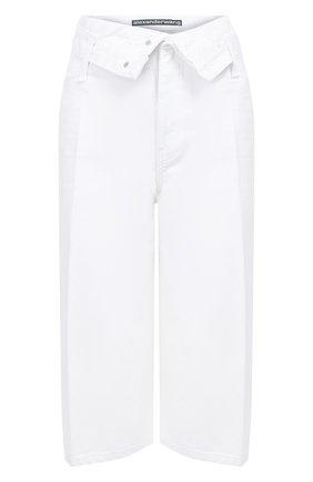 Женские джинсовые шорты ALEXANDERWANG.T белого цвета, арт. 4DC1204686 | Фото 1