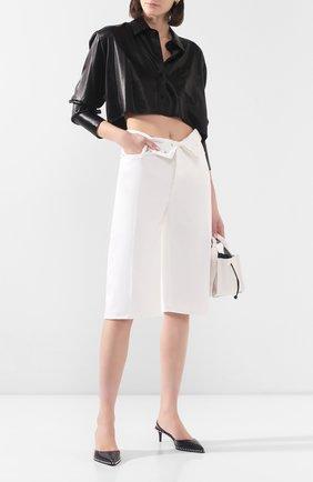 Женские джинсовые шорты ALEXANDERWANG.T белого цвета, арт. 4DC1204686 | Фото 2