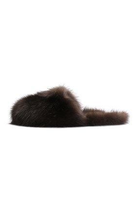 Женского домашние мюли enigma из меха соболя BLACK SABLE коричневого цвета, арт. BS-001M/EB   Фото 3