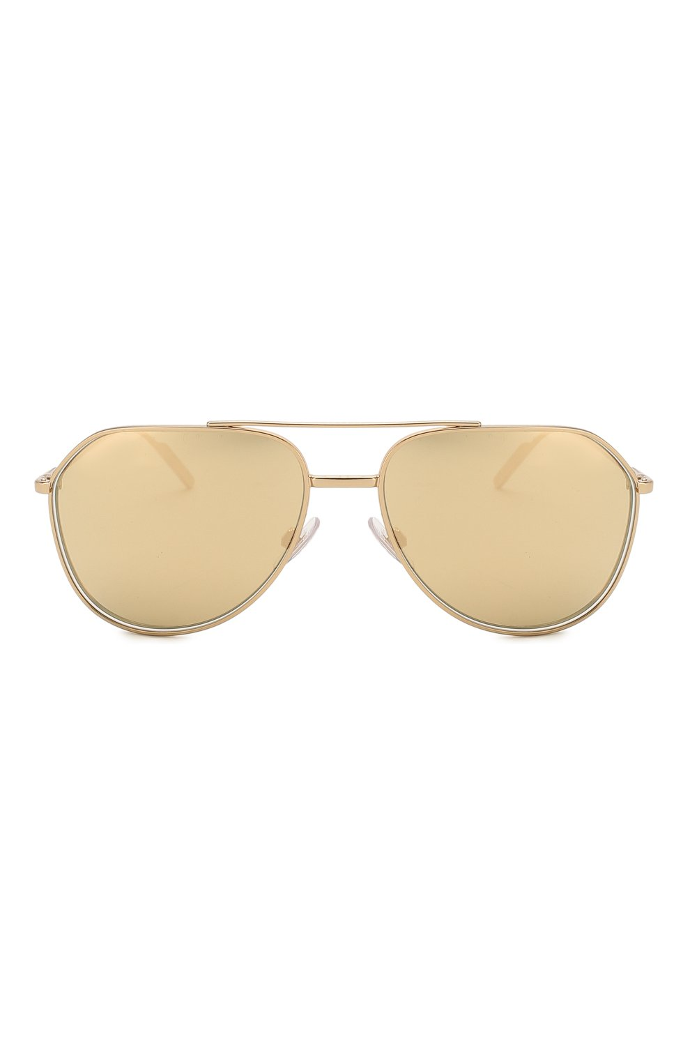 Женские солнцезащитные очки DOLCE & GABBANA золотого цвета, арт. 2166-K02/F9 | Фото 4