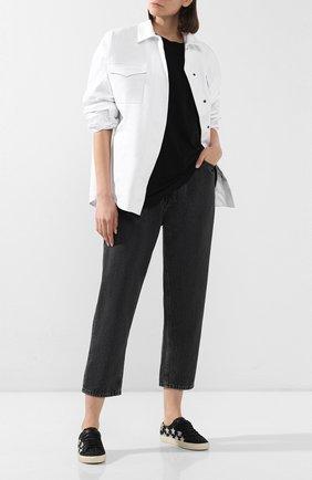 Женские текстильные кеды court classic SAINT LAURENT черного цвета, арт. 603353/1G070   Фото 2