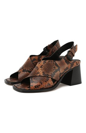 Женские кожаные босоножки VIC MATIE коричневого цвета, арт. 1X8544D.X24U030321 | Фото 1
