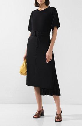 Женские кожаные босоножки VIC MATIE коричневого цвета, арт. 1X8544D.X24U030321 | Фото 2