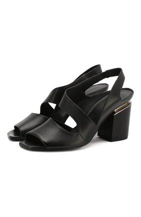 Женские кожаные босоножки VIC MATIE черного цвета, арт. 1X8602D.X34C5XB323 | Фото 1