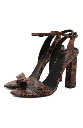 Женские кожаные босоножки VIC MATIE коричневого цвета, арт. 1X8630D.X36C5ZBN83 | Фото 1