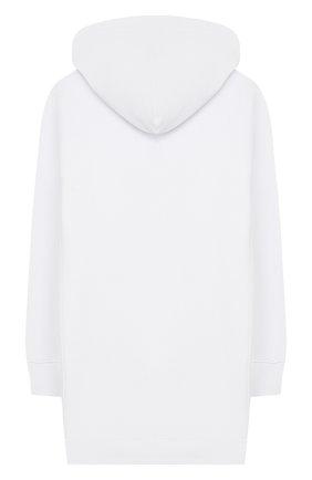 Детское хлопковое платье PHILOSOPHY DI LORENZO SERAFINI KIDS белого цвета, арт. PJAB69/FE144/VH004/L-XL   Фото 2