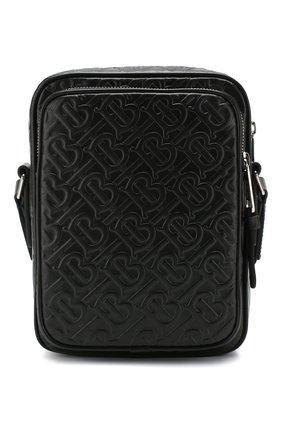 Мужская кожаная сумка BURBERRY черного цвета, арт. 8026290 | Фото 1