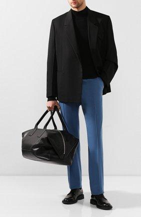Мужская кожаная дорожная сумка BOTTEGA VENETA черного цвета, арт. 600938/VCRE1 | Фото 2