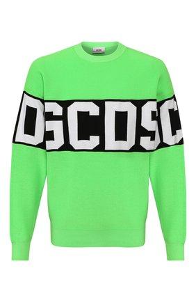 Мужской свитер GCDS зеленого цвета, арт. CC94M021103 | Фото 1