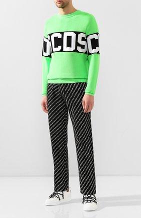Мужской свитер GCDS зеленого цвета, арт. CC94M021103 | Фото 2
