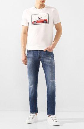 Мужская хлопковая футболка LIMITATO белого цвета, арт. SIT TIGHT/T-SHIRT | Фото 2