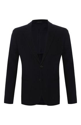 Мужской пиджак из смеси вискозы и шерсти GIORGIO ARMANI темно-синего цвета, арт. 8WGGG02B/T003N | Фото 1