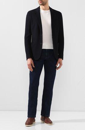 Мужской пиджак из смеси вискозы и шерсти GIORGIO ARMANI темно-синего цвета, арт. 8WGGG02B/T003N | Фото 2