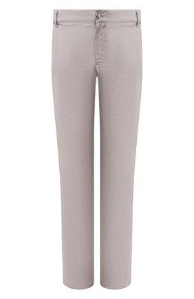 Мужской льняные брюки ZILLI серого цвета, арт. M0T-D0181-LIN01/R001 | Фото 1