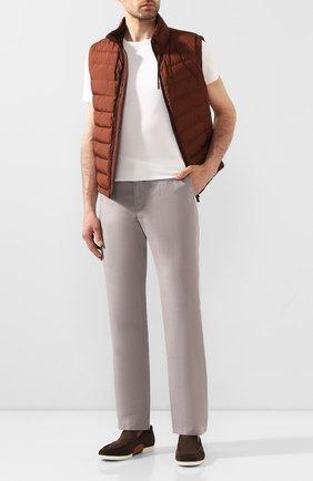 Мужской льняные брюки ZILLI серого цвета, арт. M0T-D0181-LIN01/R001 | Фото 2