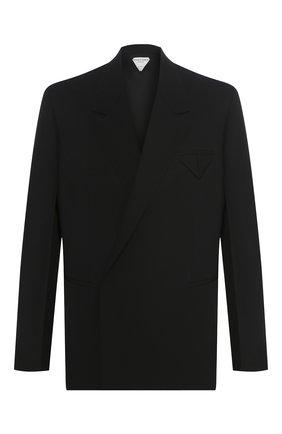 Мужской шерстяной пиджак BOTTEGA VENETA черного цвета, арт. 618164/VKPZ0 | Фото 1