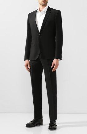 Мужской шерстяной костюм HUGO черного цвета, арт. 50417167 | Фото 1