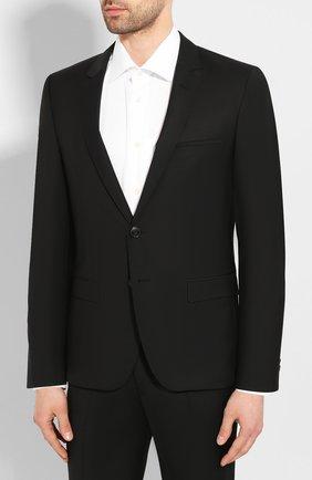 Мужской шерстяной костюм HUGO черного цвета, арт. 50417167 | Фото 2
