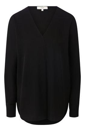 Женская шелковая рубашка VINCE черного цвета, арт. V649012271 | Фото 1