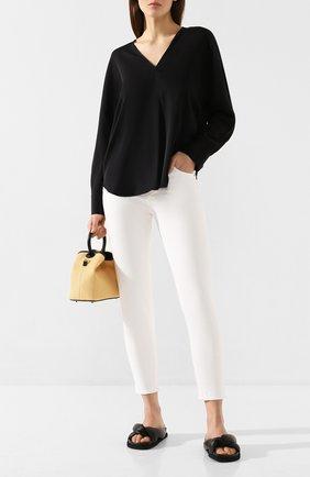 Женская шелковая рубашка VINCE черного цвета, арт. V649012271 | Фото 2