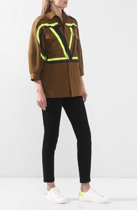 Женские кожаные кеды valentino garavani backnet VALENTINO желтого цвета, арт. TW0S0M20/MSS | Фото 2