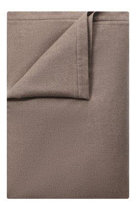 Мужского кашемировый плед с мехом LORO PIANA бежевого цвета, арт. FAG4838 | Фото 1