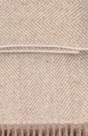 Мужского кашемировый плед LORO PIANA бежевого цвета, арт. FAC1465 | Фото 2