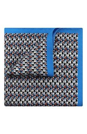 Мужской шелковый платок ETON синего цвета, арт. A000 32485 | Фото 1